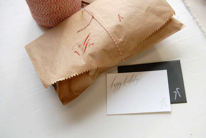 Wrapped-bag-holiday-card-and-twine