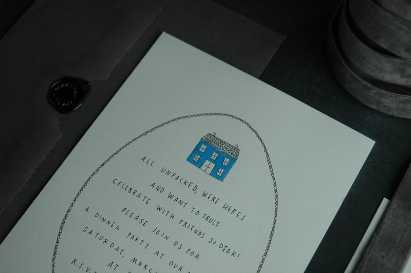 Blue house invite detail