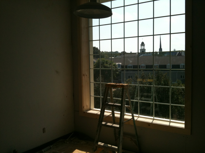 Studio window goes in