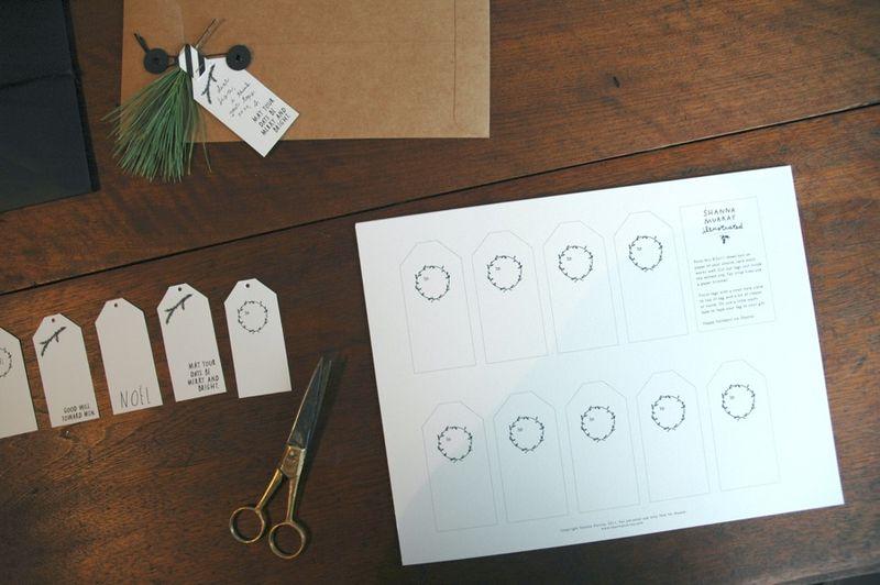 Printed sheet of tags